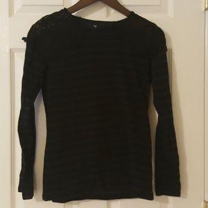 Deep Purple and Black Striped Shirt